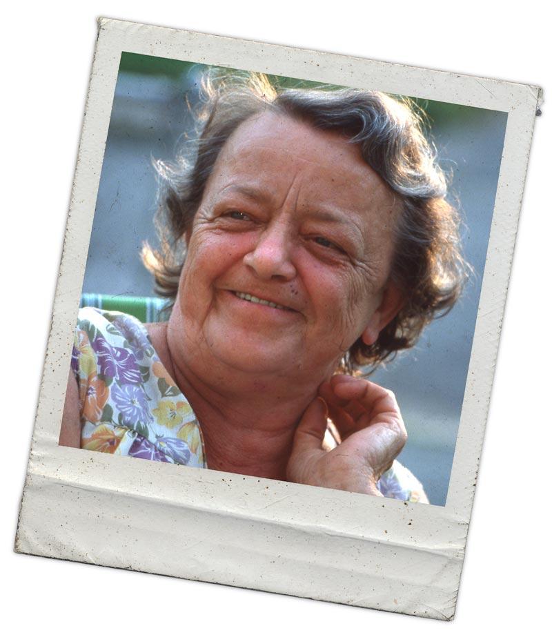 A rare photo of grandma smiling